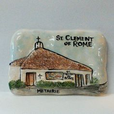 St. Clement of Rome Catholic Church Fine Clay Plaque