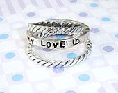 Hand stamped stackable rings $68 Etsy