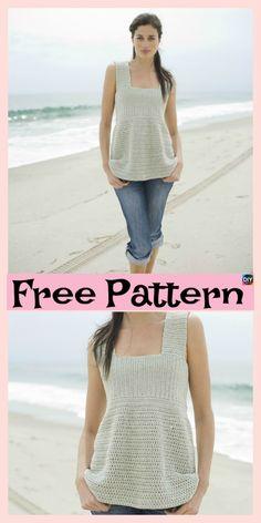 10 Beautiful Crochet Summer Tank Free Patterns #freecrochetpatterns #tank #top #crochetclothes