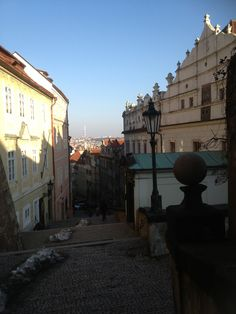Stairs leading to Prague Castle