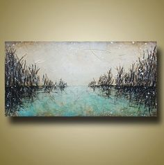 Abstract Seasape Original Painting Heavy by BrittsFineArt on Etsy