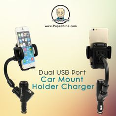 Your company name and logo placed within eyesight of decision makers increases your chance of success. With the Dual USB Port Car Mount Holder Charger which can be used as charging, mobile holding and designed with 3 in 1 car charger, cigarette lighter, 2 charging USB port, non slip surface, shock resistant, adjust holder, 360 rotation, cigarette lighter hole, your logo will not only get there, it will stay there.