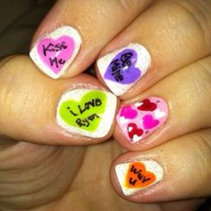 Valentines Day candy nails 2011