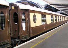 the Venice-Simplon Orient Express travels Europe Pullman Train, Pullman Car, By Train, Train Car, Belmond British Pullman, Brighton Belle, Europe Train Travel, Travelling Europe, Simplon Orient Express