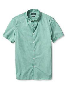 Camden-Fit Short-Sleeve Custom 078 Wash Shirt
