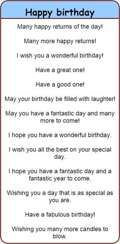 Fun and different ways to wish people 'happy birthday' in English. 'Happy…