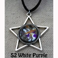 Galaxy of Stars Necklace White and Purple main by Fractured Infinity FracturedInfinity.etsy.com Star Necklace, Pendant Necklace, Space Jewelry, Infinity, Stars, Purple, Etsy, Infinite, Sterne