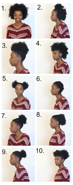 Here are 10 quick, simple and easy hairstyles for short medium natural hair for African American women.