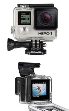 GoPro Hero4 - GoPro just released a pair of their most advanced cameras yet: The Hero4. The Black edition features a new processor with twice the power for capturing ultra high-resolution, high frame rate 4K30, 2.7K50 and 1080p120 video. The Silver edition features the first-ever built-in touch display. Both offer Bluetooth & Wi-Fi for instant sharing or remote camera control. | werd.com