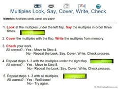 how to do look say cover write check