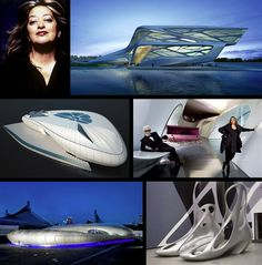 Zaha Hadid and her many works, including a mobile museum for Chanel with Karl Lagerfield