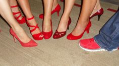 Guests sporting all sorts of red at our Red Shoe Shindig! Red Shoes, Kansas City, Stiletto Heels, Events, Fashion, Red Dress Shoes, Moda, Fashion Styles, Fashion Illustrations