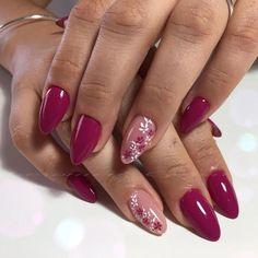 nails nail design, nail art unghie purple gel nails, na Purple Gel Nails, Pink Nails, French Nails, Cute Nails, Pretty Nails, Diy Nail Designs, Nagel Gel, Accent Nails, Flower Nails