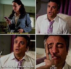 """When he'd do anything to save his beautiful face. 
