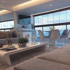 Detalhes living e varanda integrados by DD Arquitetura! @_decor4home