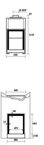 Stûv - Dimensions et performances - Stûv 2165 H | Stûv 21 simple face