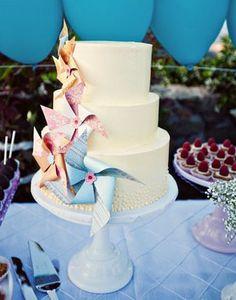 pinwheel cake decor
