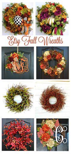 Etsy Autumn Wreaths
