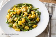 Grüne Bohnen Bratkartoffel Pfanne