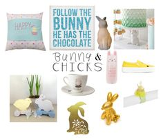 """""""#BuniesChicks"""" by cat-forsley ❤ liked on Polyvore featuring interior, interiors, interior design, home, home decor, interior decorating, All the Rages, Dot & Bo, Tony Moly and Pier 1 Imports"""