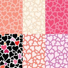 Free hearts patterns, twitter backgrounds and vector graphics by Horia Varlan, via Flickr