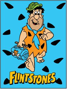 Flintstones printable Fred  Wall décor blue 793x1042