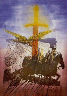 Ace of Swords - Akron Tarot by S.O. Huttengrund