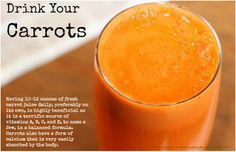 #Carrot juice is perfect for nutritional balancing. It's a great source of nutrients, Vitamins A , B, C, E, and others. So drink your carrots daily!