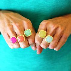 rainbow stone rings.