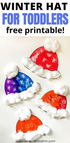 Simple Winter Hat Craft for Preschoolers