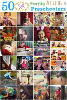 Need some ideas to steal moments of the day and make it special? Here are 50 Fun Everyday Activities for Preschoolers. What would you add to this list?