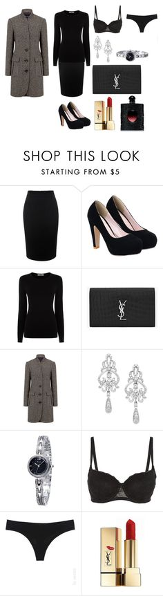 """Lady Laurent"" by alexander-delys-art on Polyvore featuring moda, Alexander McQueen, Oasis, Yves Saint Laurent, Pink Tartan, Wrapped In Love y La Senza"