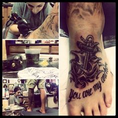 """I love the """"you are my anchor"""" piece. I believe I will add this to my anchor and heart tatto"""