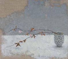 유 Still Life Brushstrokes 유 Nature Morte Paintings - Sarah Gillespie (British). Black Plum. Oil on linen.