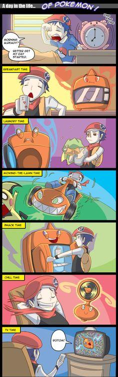 Filled with Rotom, Pokémon