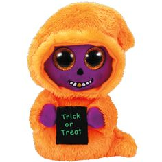 Ty Beanie Boos Collectors and lovers of all things cute and spooky wont want to miss this medium-sized Skelton the Ghoul plush - here just in time for Halloween! Kids Toy Store, New Kids Toys, Toddler Toys, Halloween Beanie Boos, Halloween 6, Halloween Favors, New Beanie Boos, Ty Beanie, Ty Boos