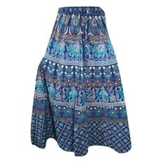 Mogul Women's Long Skirt A-Line Blue Printed Cotton Indian Boho Chic Skirts    https://www.walmart.com/search/?query=MOGUL%20INTERIOR%20SKIRT