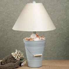 bucket of sea treasures table lamp themed table lamps lighting. Black Bedroom Furniture Sets. Home Design Ideas