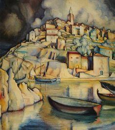 """Vladimir Varlaj, """"Vrbnik"""", 1923"""