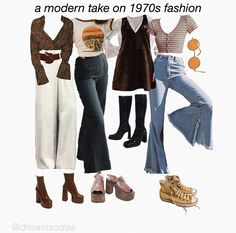 @ drownsodas on ig 70s Outfits, Vintage Outfits, Hippie Outfits, Casual Outfits, Fashion Outfits, Rave Outfits, Grunge Outfits, 70s Inspired Fashion, 70s Fashion