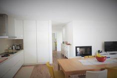 CASA HEITOR por Jesus Correia Arquitecto | homify Divider, Kitchen Cabinets, Room, Furniture, Home Decor, House, Townhouse, Design Ideas, Modern Kitchens
