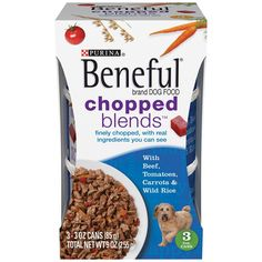 Beneful Chopped Blends with Beef, Tomatoes, Carrots and Wild Rice; 9 Ounce (Pack of 8) >>> Details can be found by clicking on the image. (This is an affiliate link) #DogCare