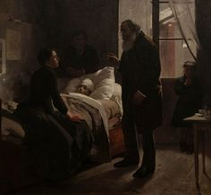 """ The Sick Child Artist: Arturo Michelena Year: 1886 Type: Oil on canvas """