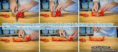 Couper un poivron, c'est facile ! Connaissez-vous vraiment la bonne technique pour découper un poivron rapidement ? Ce qui prend du temps est de nettoyer l'intérieur du poivron. L'astuce de chef pour couper un poivron consiste à couper le haut puis à faire glisser le couteau le long de la chair par l'intérieur pour le dérouler. Voici comment se débarrasser des graines et des membranes de votre poivron tout en le découpant :