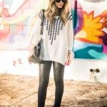Get the look – Tricô + couro!