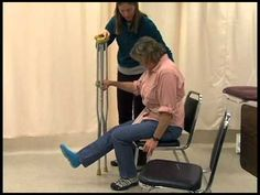 Crutch Gait Training: Physical Therapy Assistant Skills Video #1 Mike, check out at 5:12 into video