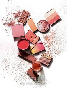 "Allure Korea and STYLE.COM Korea April 2009: ""Coral Code"" features Peripera's Wonder Shot Blusher in #1 Scandal (#12) - 코랄 블러시 #peripera #allure #style.com #wondershotblusher #beauty #makeuptips #colortrends #April2009 #Blush #cheek"