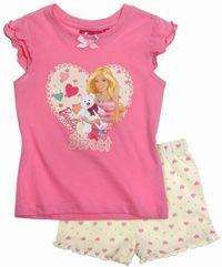 Nové - Růžovo-smetanové letní pyžamo s Barbie zn. Barbie