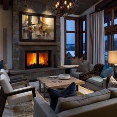 Top 70 Best Great Room Ideas - Living Space Interior Designs From contemporary and modern to traditional and rustic, discover the top 70 best great room ideas. Explore cool living space interior designs for your home. Modern Cabin Interior, Interior Exterior, Home Interior, Home Decor Bedroom, Interior Design Living Room, Living Room Designs, Living Room Decor, Modern Cabins, Cozy Living Spaces