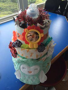 Hooty owl diaper cake